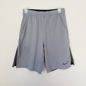 NIKE Dri-Fit Gray Black Athletic Shorts SZ L